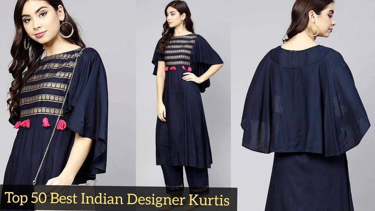 Top 50 Best Indian Designer Kurtis Collection With Useful Neck Sleeves Daman Trousers Designs Ideas Youtube