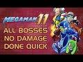 Mega Man 11 - All Miniboss & Boss Speedrun (No Damage) (Challenge Mode Gold Rank)