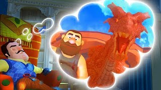 FACING A FIRE BREATHING DRAGON IN HELLO NEIGHBOR'S DREAM! | Escape Your Dreams! - Suicide Guy Game
