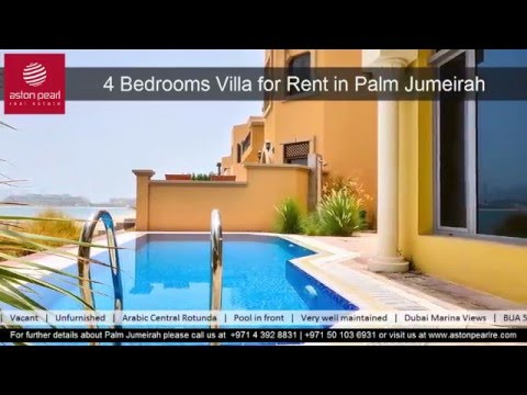 4 Bedrooms Villa For Rent In Garden Homes Frond M Palm Jumeirah Youtube