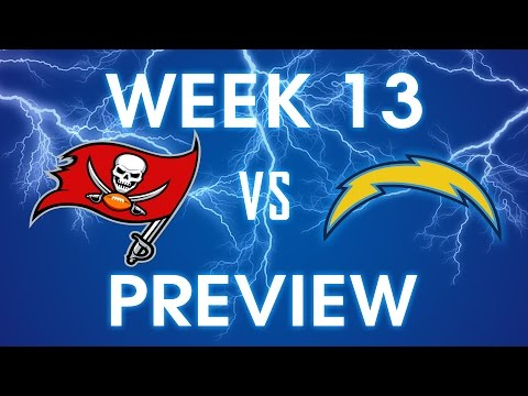 Tampa Bay Buccaneers vs San Diego Chargers - Week 13 Preview