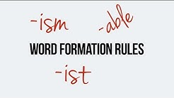 English. Word formation. Suffixes able, ism, ist