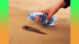จะเกิดอะไรขึ้นเมื่อหยอดน้ำลงในทราย ? (รวมคลิปความพึงพอใจ)