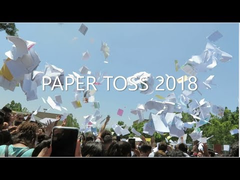 PAPER TOSS 2018!!!!/ GRADUATION DRESS SHOPPING
