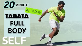 20-Minute Tabata Full-Body Workout - No Equipment at Home | Sweat with SELF