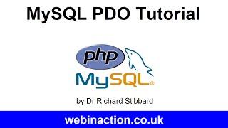 MySQL PDO Tutorial Lesson 8 - Insert, update and delete records