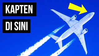 Kenapa Kapten Pesawat Selalu Duduk di Sebelah Kiri