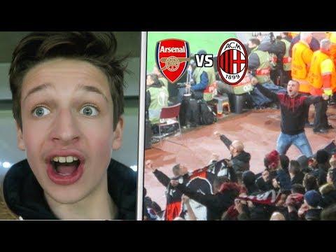 ARSENAL vs AC MILAN *VLOG* - ROSSONERI FANS SILENCE THE GOONERS