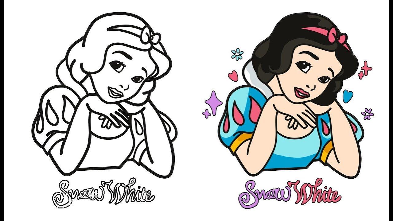 Cara Menggambar Snow White L Mewarnai Gambar Snow White