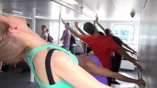 Ballet class on a boat