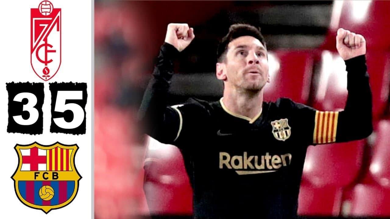 Download Granada CF vs Barcelona 3-5 Extended Highlights & All Goals 2021 HD