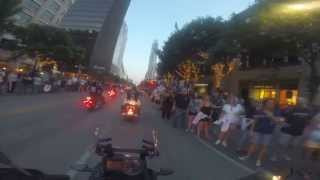 Riding in the 2014 Republic of Texas Motorcycle Parade down Congress Ave. (Austin, Texas)