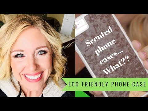 Eco friendly phone case that is scented!-My phone smells like coffee!