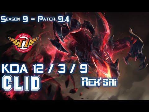 SKT Clid REK'SAI vs ELISE Jungle - Patch 9.4 KR Ranked