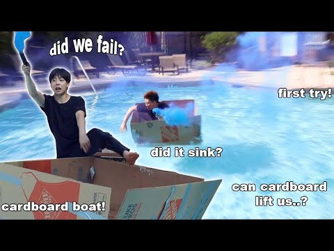 We Built Boats using ONLY CARDBOARD Boxes!! | Who Will Sink First!?