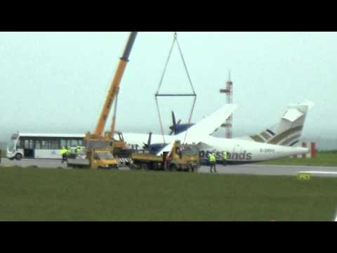 Jersey Airport - Crashed plane 16/06/2012
