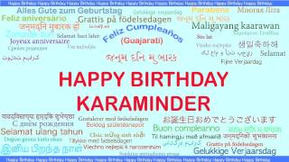Karaminder   Languages Idiomas - Happy Birthday
