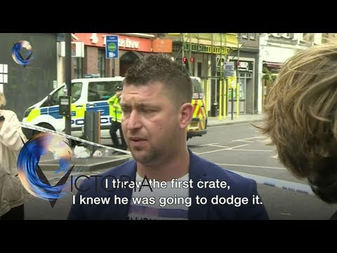 London attack hero: 'I hit attacker with a crate' - BBC News
