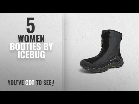 Top 10 Icebug Women Booties [2018]: Icebug Women's Ivalo BUGrip Studded Traction Winter