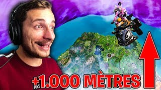 Glitch go to 1,000 meters on fortnite royal battle!