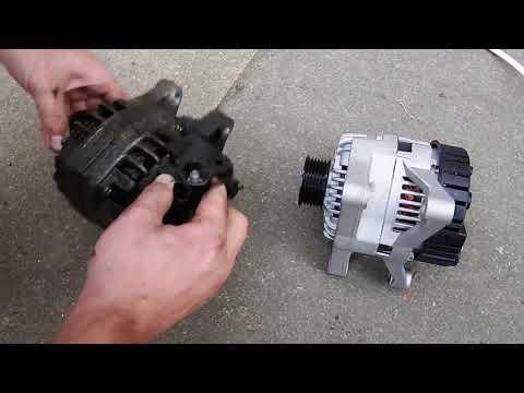 Peugeot 206 how to replace alternator, belt & steering fluid pump