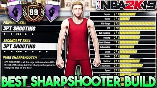 NBA 2K19 BEST SHARPSHOOTER BUILD!! Best Shooting Build for MyPark! (Best Shooting Guard Build)