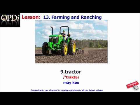 Oxford dictionary - 13. Farming and Ranching - learn English vocabulary with picture