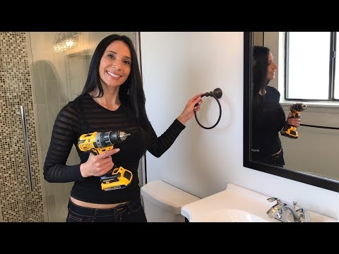 How to Hang a Towel Rack/Ring