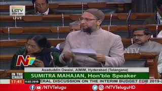 Asaduddin Owaisi Speech at Lok Sabha | Parliament Budget Session 2019 | NTV