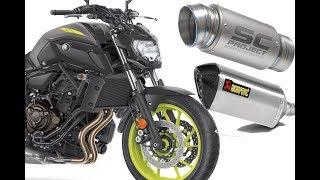Full System Exhaust Akrapovic Vs SC Project  Yamaha MT-07
