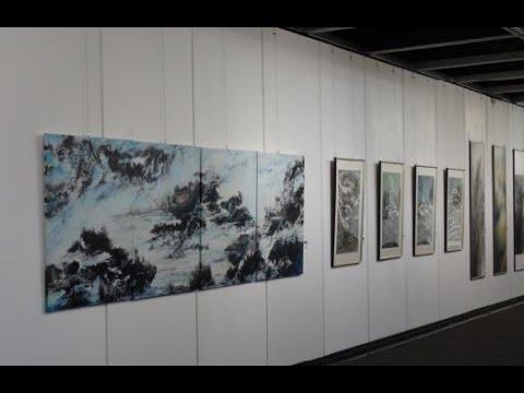 香港現代水墨畫會聯展2014 作品 - YouTube