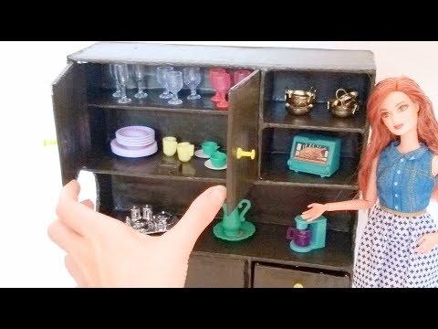 Armário de Cozinha para Barbie com Papelão Comum