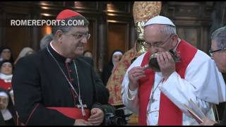 The blood of St. Januarius was liquified while the Pope visited Naples