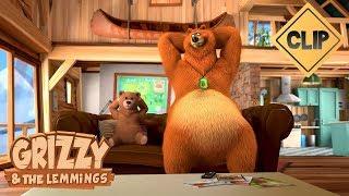 Une peluche Grizzy vaudou - Grizzy & les Lemmings