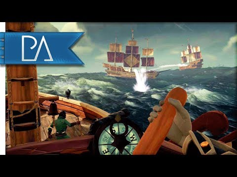 FIGHTING Two GALLEONS in a Sloop! - Sea of Thieves Multiplayer {Closed Beta} Gameplay