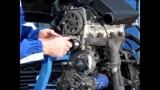 Kontrola i wymiana pasków sterujących układem rozrządu oraz stałym napinaczem