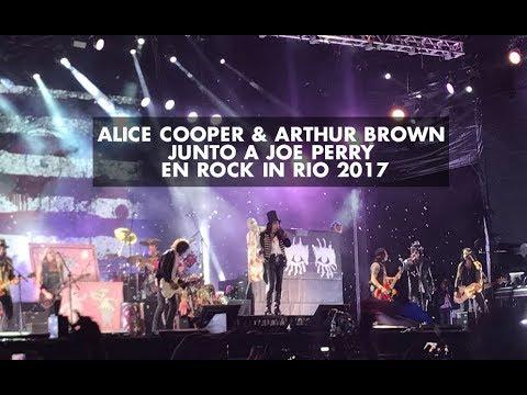 Alice Cooper & Arthur Brown junto a Joe Perry en Rock In Rio 2017