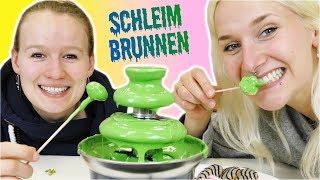 DIY SCHLEIM BRUNNEN | essbare Slime Fontäne mit Süßigkeiten + Obst für Kindergeburtstag