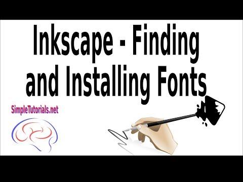 Как добавить шрифт в inkscape