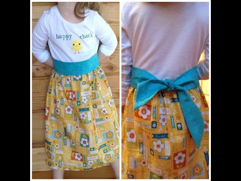 Upcycling a t shirt into a dress perfect beginner sew Upcycling for beginners
