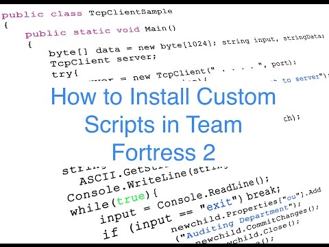 How to Install Custom Scripts On TF2 for Mac