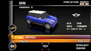 Asphalt Urban GT2 (PSP) - All of the Cars!