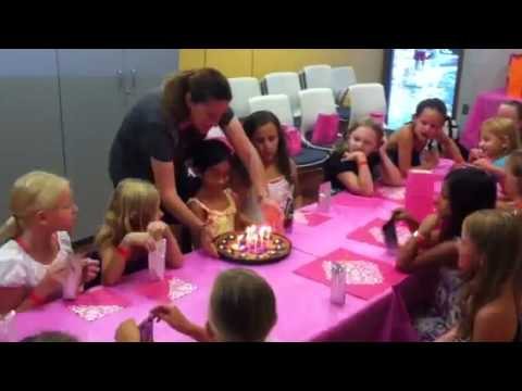 Kayla's Birthday Party - Blowing out candles
