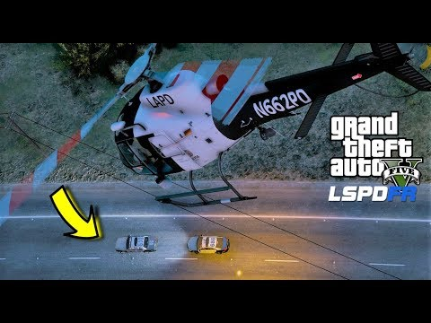 GTA 5 LSPDFR Helicopter Air Support Chasing Stolen LAPD Police Car