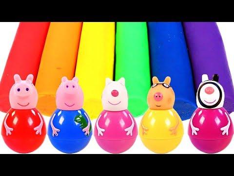 Mejores Videos Para Niños Aprendiendo Colores - Peppa Pig Weebles Play Doh Learning Colors
