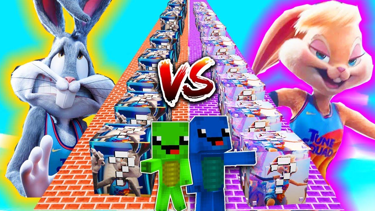 BUGS BUNNY LUCKY BLOCK vs. LOLA LUCKY BLOCK BATTLE ( Space Jam ) in Minecraft