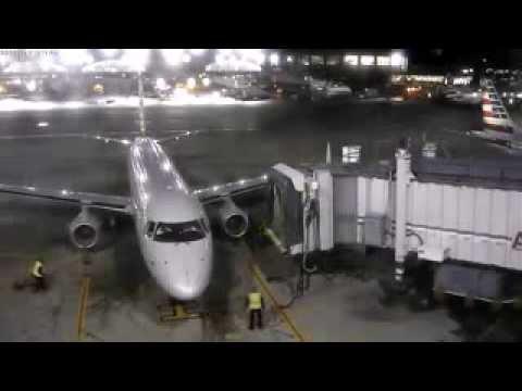 Jet sucks a safety pylon into its engine