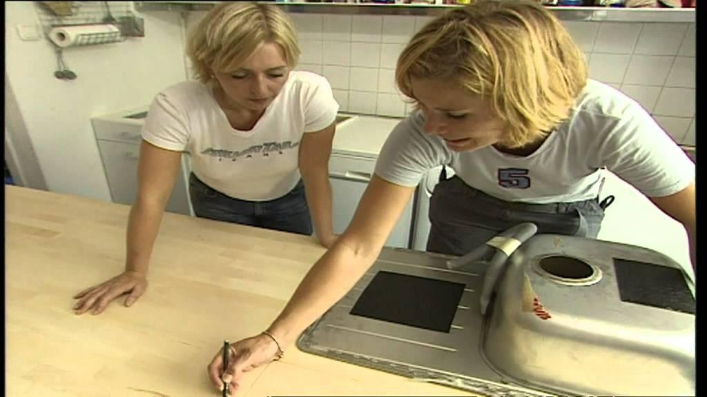 Bauanleitung, Küchenarbeitsplatte austauschen - YouTube