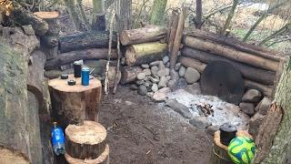 winter river bank hammock camp and camp build
