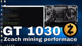GT 1030  Zcash Mining Performance stock and overclock settings